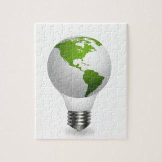 Lámpara global puzzles