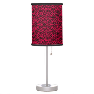 Lámpara gótica del estilo del cordón negro y rojo