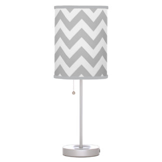 Lámpara gris clásica del zigzag