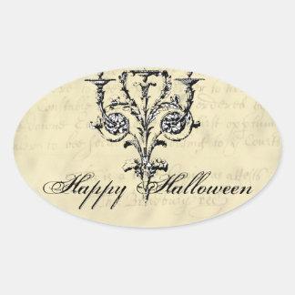 Lámpara Halloween Pegatina Ovalada
