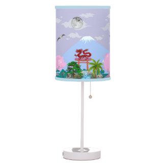 Lámpara japonesa de la historia