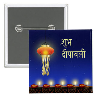 Lámpara luminosa de Diwali - botón Pins