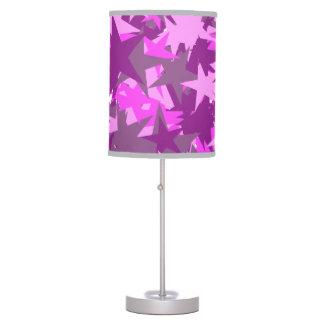Lámpara modelada estrella rosada