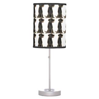 Lámpara negra del arte del labrador retriever