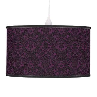 Lámpara negra y púrpura hermosa del fleur del vint