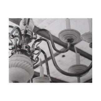 Lámpara oxidada lona estirada galerias