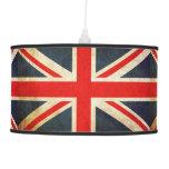Lámpara pendiente apenada de Union Jack de la band