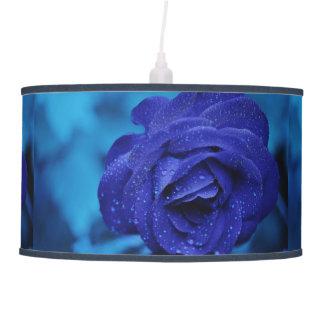 Lámpara pendiente color de rosa azul imponente