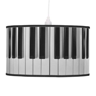 Lámpara pendiente de encargo del teclado de piano