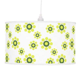 Lámpara pendiente de la primavera floral del verde