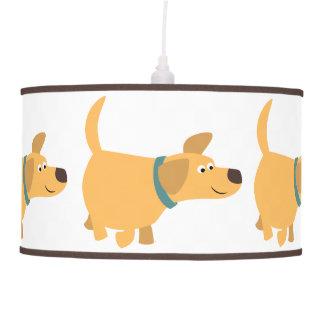 Lámpara pendiente de Labrador del amarillo lindo d