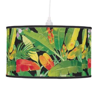 Lámpara pendiente de las hojas tropicales