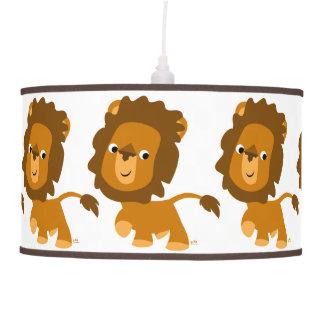 Lámpara pendiente del dibujo animado del león