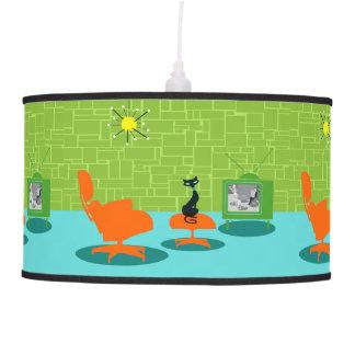 Lámpara pendiente del gatito retro de la era