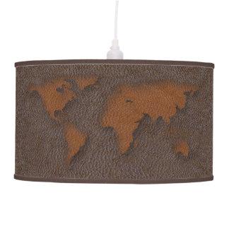 Lámpara pendiente del mapa del mundo de la