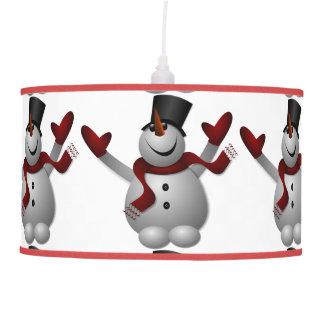 Lámpara pendiente del muñeco de nieve