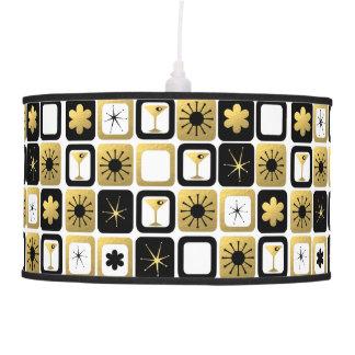 Lámpara pendiente del oro atractivo retro