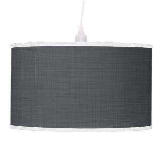 Lámpara pendiente moderna gris y blanca