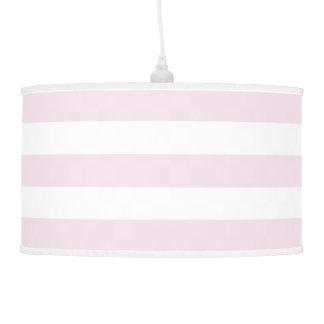 Lámpara pendiente rayada ancha moderna en el rosa