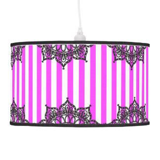 Lámpara pendiente VSPinkStripeLace2015