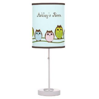 Lámpara personalizada de los niños del tema del bú