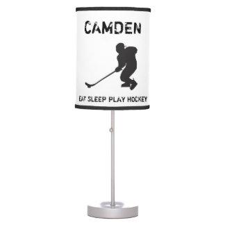 Lámpara personalizada del hockey