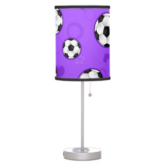 Lámpara púrpura linda del balón de fútbol