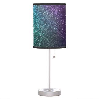 Lámpara reluciente púrpura del verde azul del