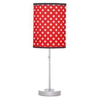 Lámpara roja de los lunares de w/White