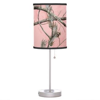 Lámpara rosada de Camo del árbol