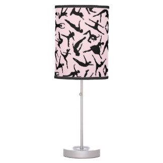 Lámpara rosada de los bailarines deliciosos
