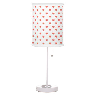Lámpara rosada del modelo de los corazones del lun