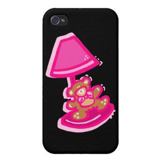 lámpara rosada del oso iPhone 4 cárcasas