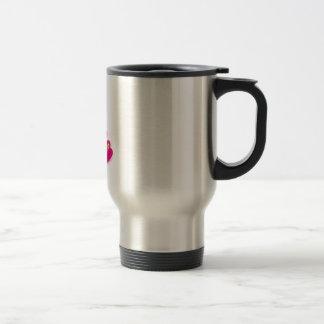 lámpara rosada del oso taza de café