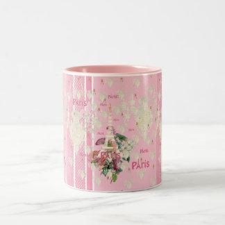 Lámpara rosada elegante de la torre Eiffel de Parí Taza