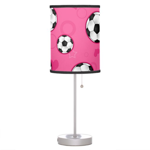Lámpara rosada linda del balón de fútbol