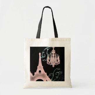 Lámpara rosada París que casa SaveTheDate Bolsas