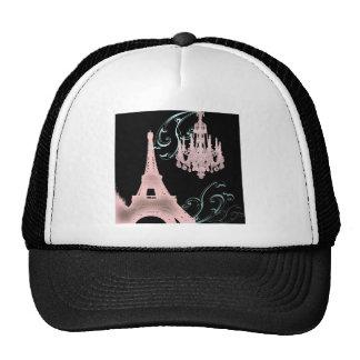Lámpara rosada París que casa SaveTheDate Gorras