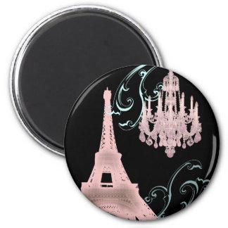 Lámpara rosada París que casa SaveTheDate Iman De Frigorífico