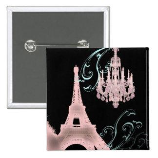 Lámpara rosada París que casa SaveTheDate Pin