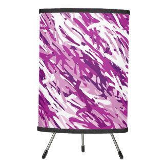 Lámpara rosada púrpura del camuflaje