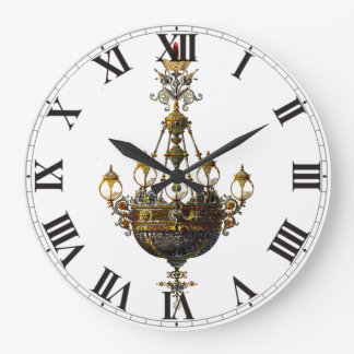 Lámpara rusa de la antigüedad del vintage reloj redondo grande