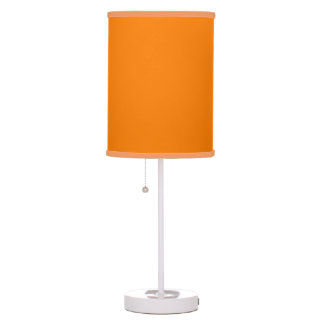 Lámpara sombreada naranja