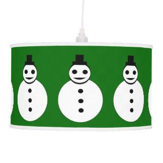Lámpara sonriente del muñeco de nieve del navidad