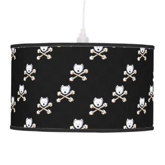 Lámpara tórrida de la bandera pirata de Westie