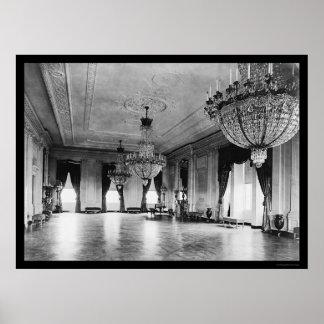 Lámparas 1903 de la Casa Blanca Póster