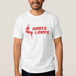 lámparas ambarinas rojas camisas
