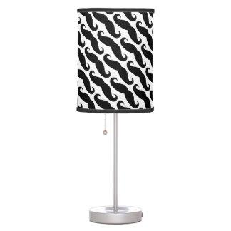 Lámparas blancos y negros de moda del modelo del b lámpara de mesa