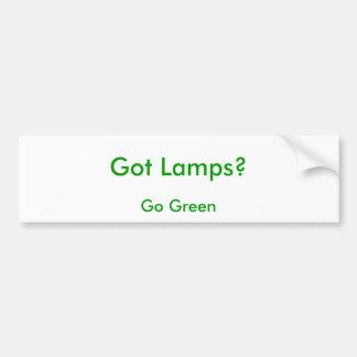 ¿Lámparas conseguidas? , Va el verde Pegatina Para Auto