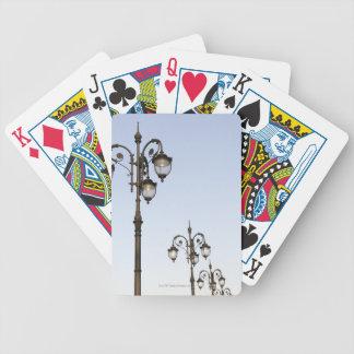 Lámparas de calle baraja cartas de poker